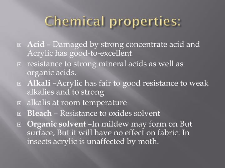 Chemical properties:
