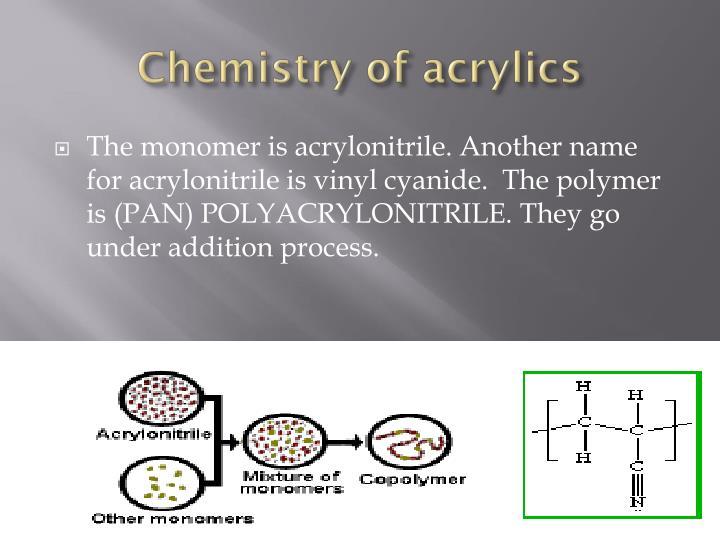 Chemistry of acrylics