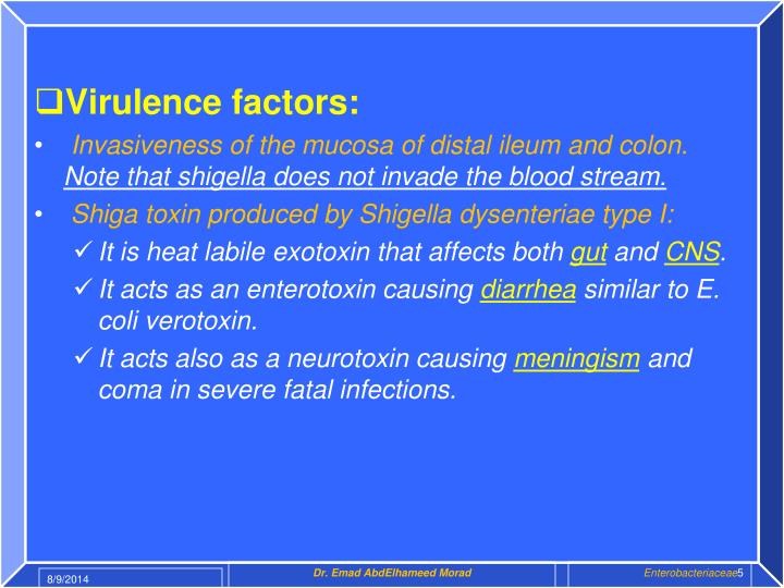 Virulence factors: