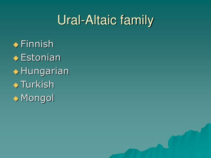 Ural-Altaic family
