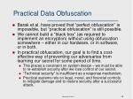 practical data obfuscation