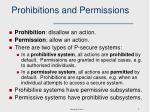 prohibitions and permissions