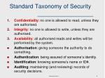 standard taxonomy of security