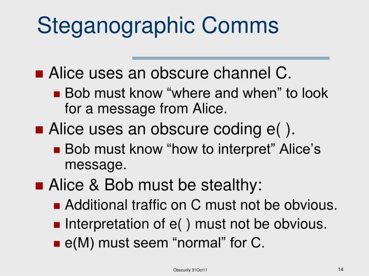 Steganographic