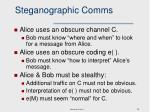 steganographic comms