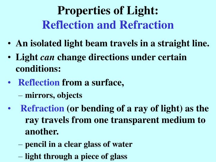 Properties of Light: