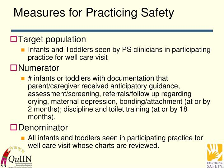 Measures for Practicing Safety