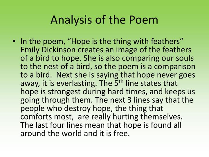 Analysis of the Poem