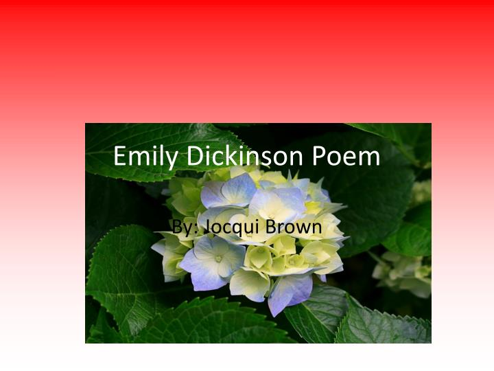 Emily Dickinson Poem
