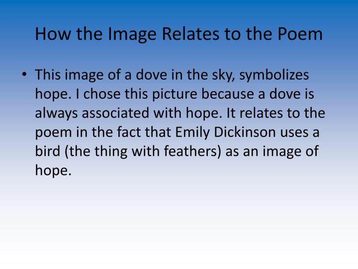 How the Image Relates to the Poem