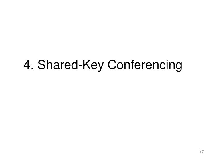 4. Shared-Key Conferencing
