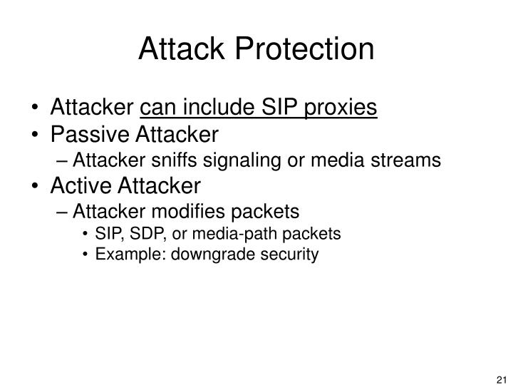 Attack Protection