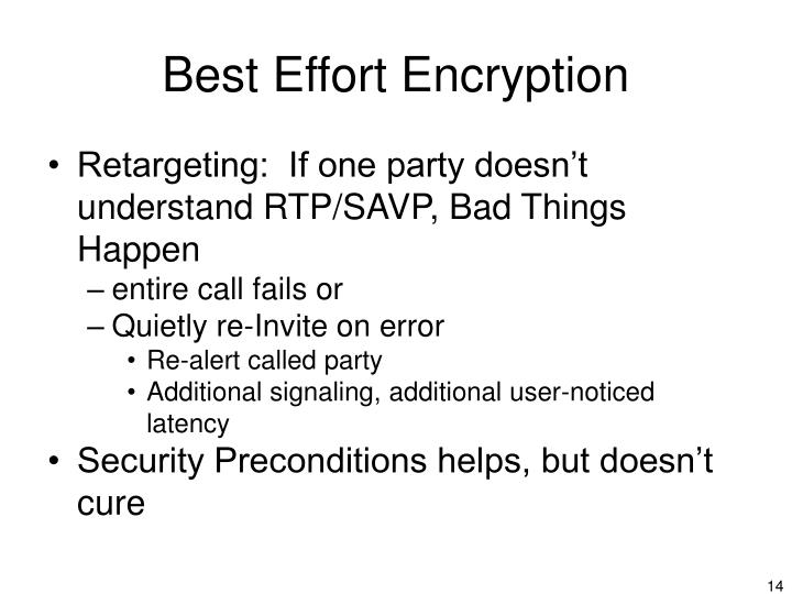 Best Effort Encryption