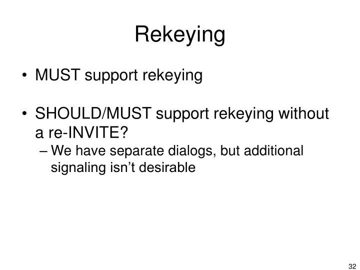 Rekeying