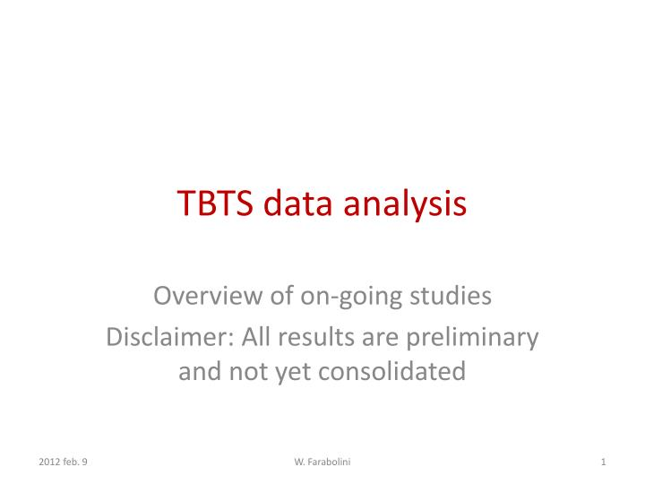 Tbts data analysis
