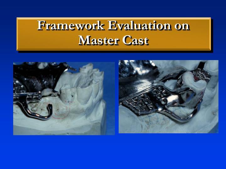Framework Evaluation on Master Cast