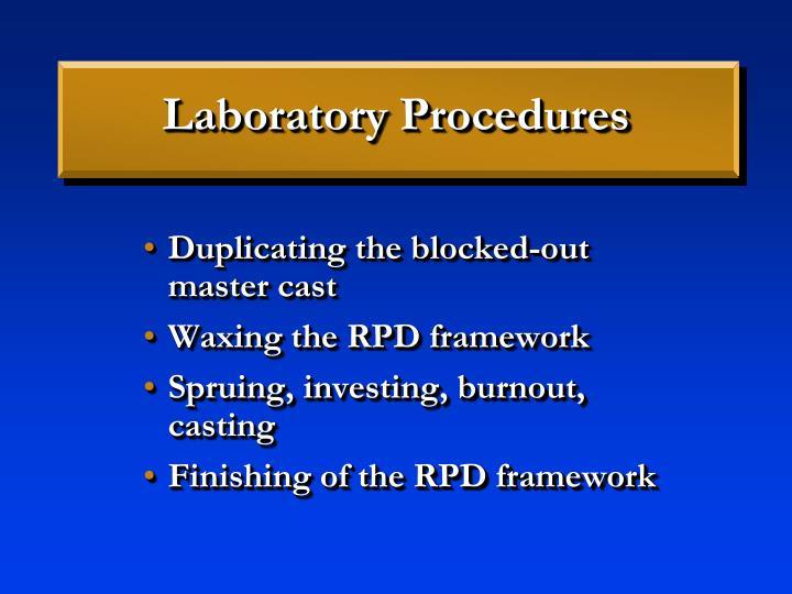 Laboratory Procedures