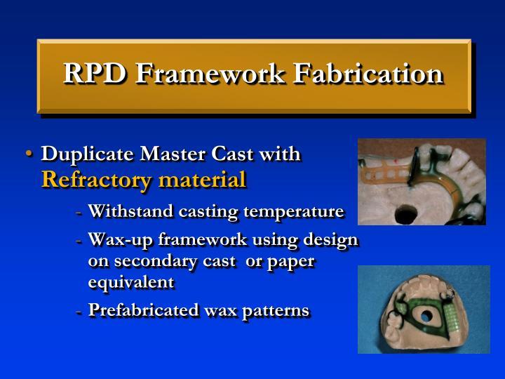 RPD Framework Fabrication