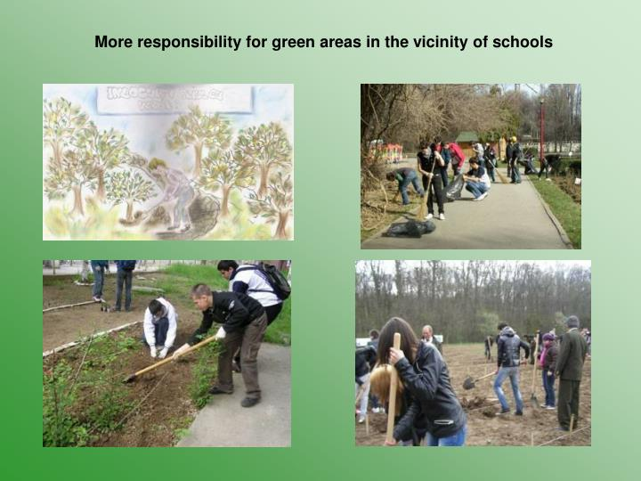 More responsibility for green areas in the vicinity of schools