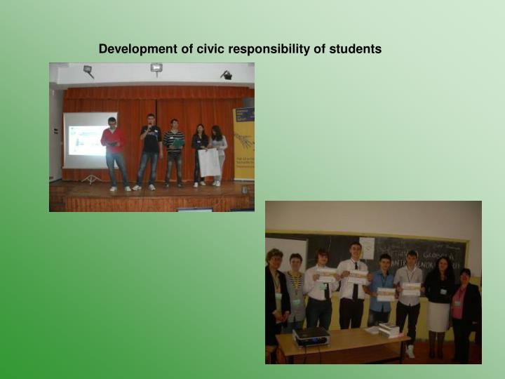 Development of civic responsibility of students