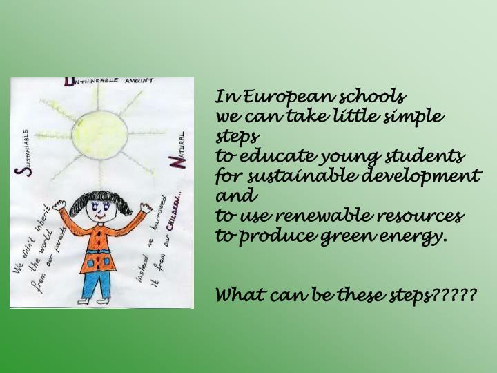 In European schools