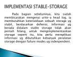 implementasi stable storage