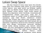 lokasi swap space