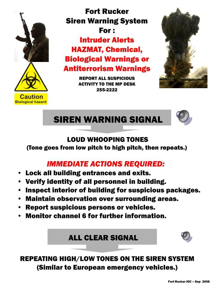 SIREN WARNING SIGNAL