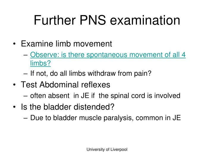 Further PNS examination
