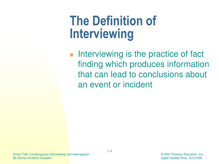 smart talk contemporary interviewing and interrogation