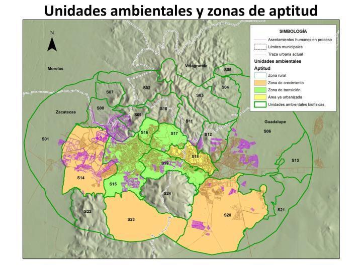 Unidades ambientales y zonas de aptitud