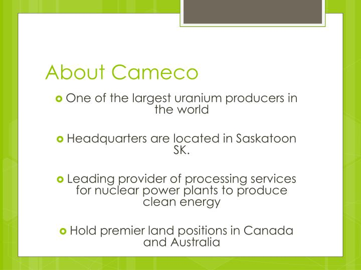 About cameco
