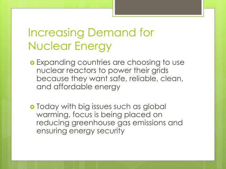 Increasing Demand for Nuclear Energy