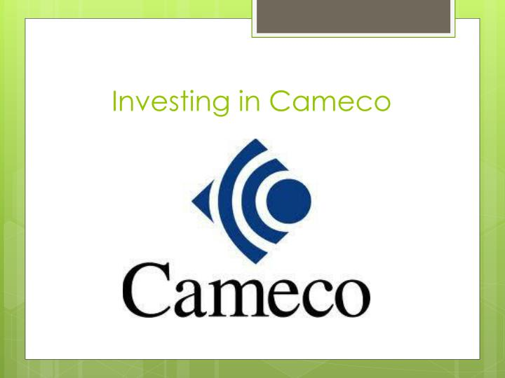Investing in cameco