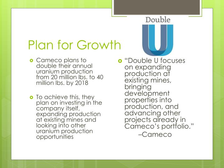 Plan for Growth