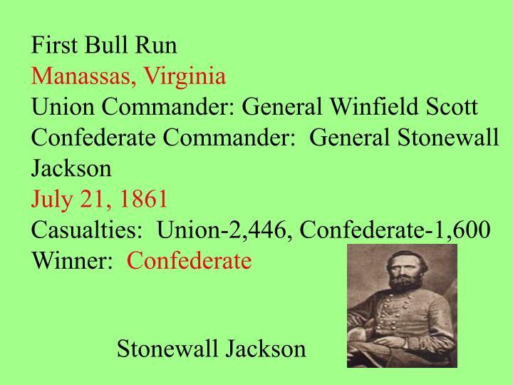 First Bull Run
