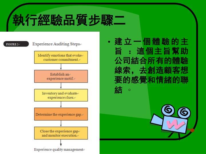 執行經驗品質步驟二