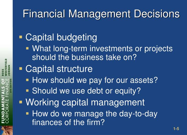 Financial Management Decisions