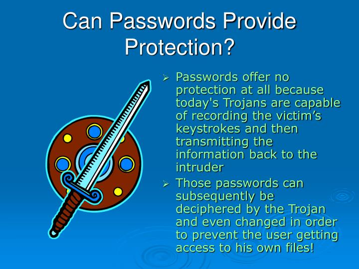 Can Passwords Provide Protection?