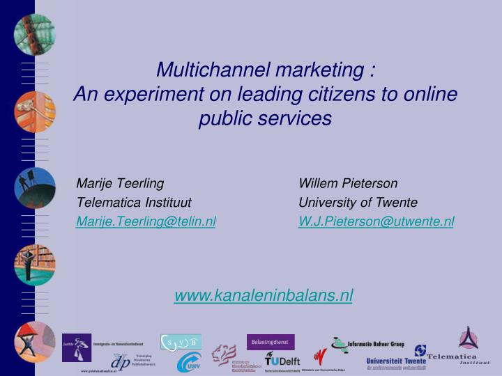 Multichannel marketing an experiment on leading citizens to online public services
