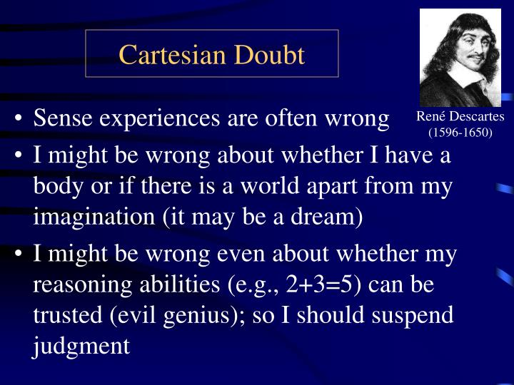 Cartesian doubt