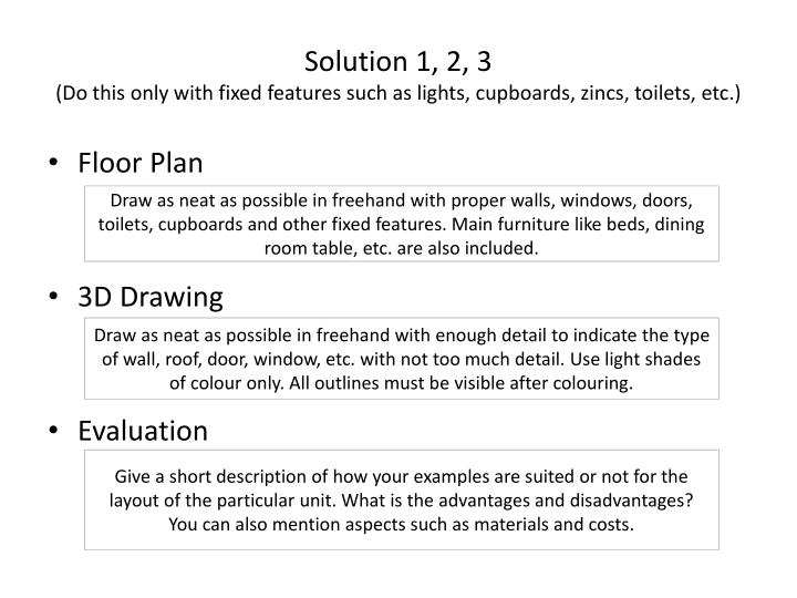 Solution 1, 2, 3