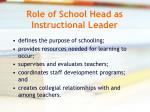 role of school head as instructional leader
