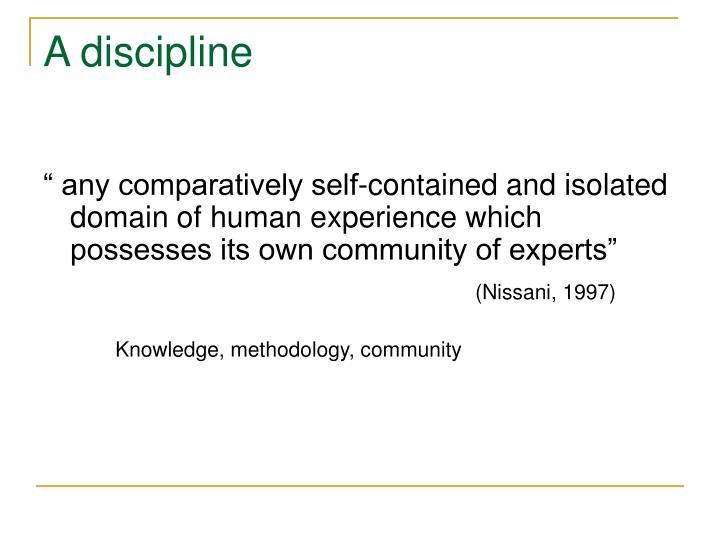 A discipline