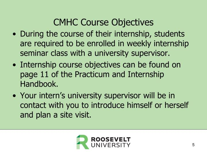 CMHC Course Objectives