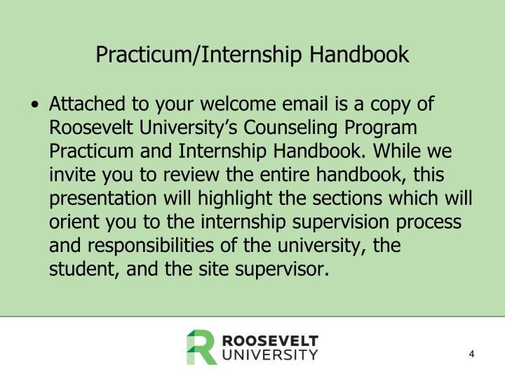 Practicum/Internship Handbook