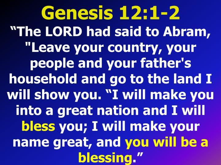 Genesis 12:1-2