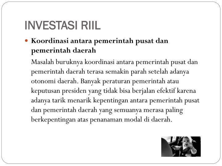 INVESTASI RIIL