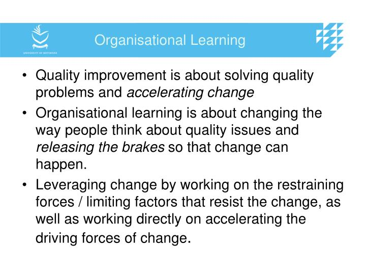 Organisational Learning