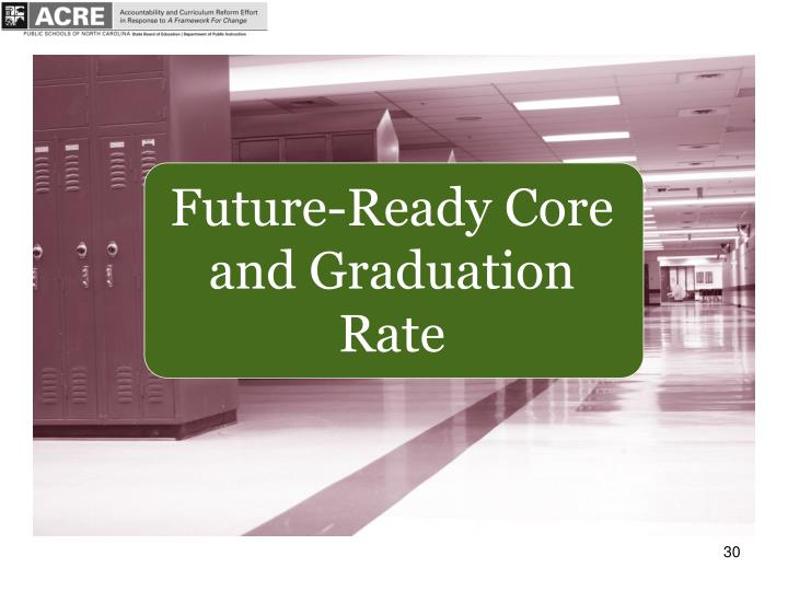 Future-Ready Core and Graduation Rate